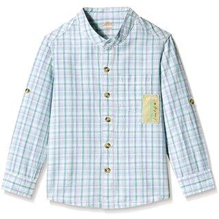 Ello Boys Shirt checks light blue