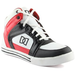 Dox Mens BlackRed Ankle Length Casual Shoes