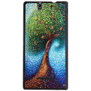 Instyler Digital Printed Back Cover For Sony C3 SONYC3DS-10282
