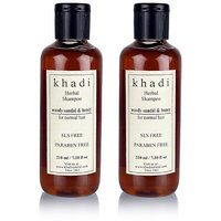 Khadi Natural Woody Sandal  Honey Herbal Shampoo - Sls  Paraben Free - 210ml (
