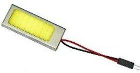 Bright White COB Chip LED Car Roof Dome Light 6000K Adjustable Festoon Adaptor