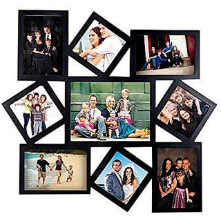 buy gift world large 9 in 1 designer photo frame collage black