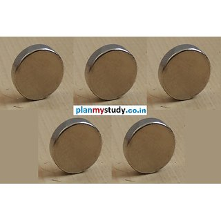Neodymium N52 Grade Super Strong Magnet 12x3 mm, Type Cylindrical, Set of 5