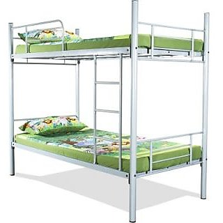 FurnitureKraft Metal Bunk BedFinish Color  Silver
