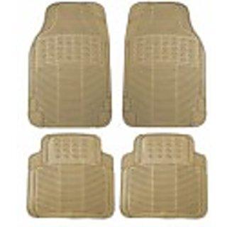 BECART Rubber Foot Mat For Hyundai i 10 Grand- Beige