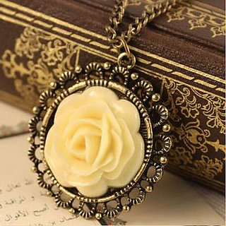 Buy wf cute yellow rose retro color block drill hollowing pendant wf cute yellow rose retro color block drill hollowing pendant necklace mozeypictures Image collections