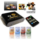 Gadget Heros Realtime 2d To 3d Av Converter For Bluerray Xbox 360 Dvd Ps3 Lcd Led Projector