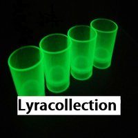 Glow In The Dark Wine And Shot Glass Set Of 2