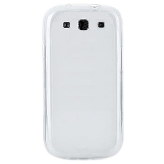 Callmate Soft Back Case For S3 I9300 With Screen Guard- White
