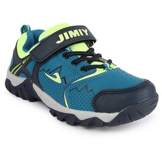 Nfive Green And Blue Stylish Boys Sports Shoes