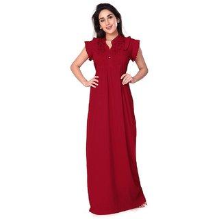 Red Womens Nighty Free Size Bella Rd