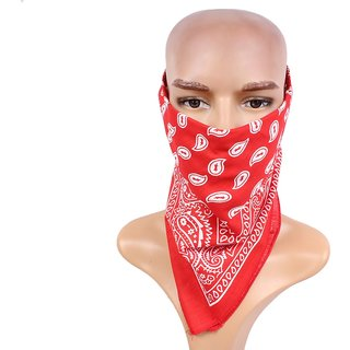 Sushito Designer Red Multi Use Headwrap JSMFHHR0189
