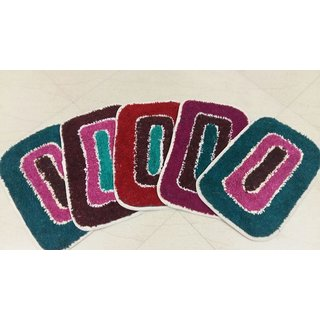 Akash Ganga Combo of 5 Multi-Purpose Beautiful Door Mats