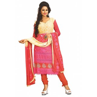 Indrakshi Collectio Womens georgette unstitched Salwar Suit dress material