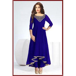 Isha Enterprise Fashionable Designer Full Sleeve Blue Kurti