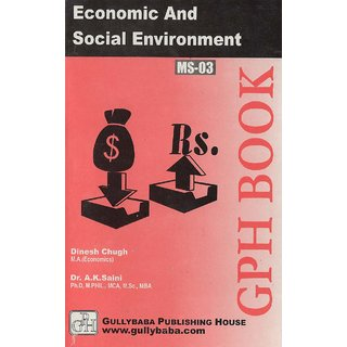 MS3 Economic And Social Environment(I.GNOU Help book for MS-03 in English)