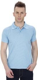 Izor Sky Blue Polo Dri-Fit T-Shirt For Men
