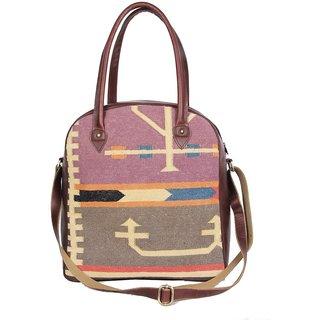 Jaipur Textile Hub Traditional Rugs Made Handbag Travel Bag(Multicolor)