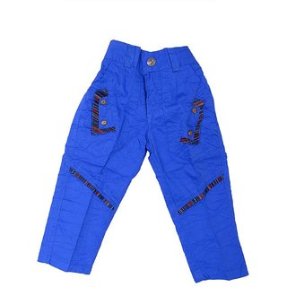 Sky Blue Boys Cotton Pant