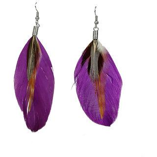 R18Jewels-FashionU Sensuous Feather Metal Tassel Earring