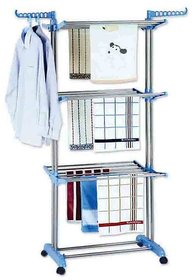 Double Pole Stainless Steel Cloth Drying Stand 26 Rods