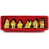 Happy Vastu / Fang Shui / 6 Pcs Laughing Buddha Happy Man For Wealth Gift Pack