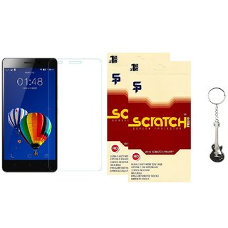 Scratch Pruff Matte Screen Guard of Lenovo A369i Pack of 2  FREE Guitar Metal keychain