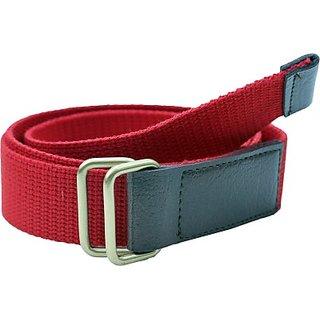 Contra Men, Boys, Girls, Women Red Canvas Belt (Red)
