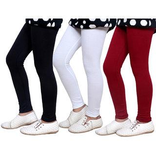 Indiweaves Kids Super Soft Cotton Leggings Combo 3-(714050300-IW-K)