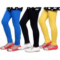 Indiweaves Girls Super Soft Cotton Leggings Combo 3-(714090507-IW)