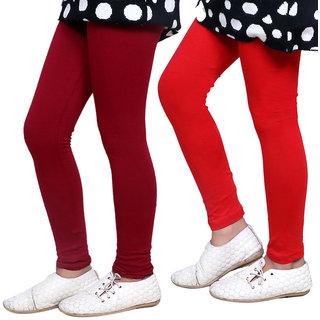 Indiweaves Girls Super Soft Cotton Leggings Combo 2-(7140071404-IW)