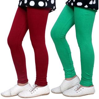 Indiweaves Girls Super Soft Cotton Leggings Combo 2-(7140071406-IW)