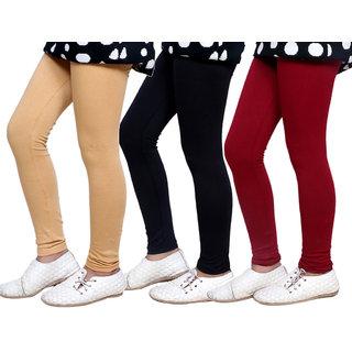 Indiweaves Kids Super Soft Cotton Leggings Combo 3-(714010500-IW-K)