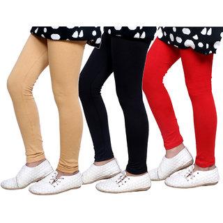 Indiweaves Kids Super Soft Cotton Leggings Combo 3-(714010504-IW-K)
