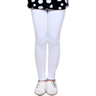 IndiWeaves Kids Super Soft Cotton White Leggings