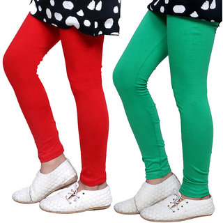 Indiweaves Girls Super Soft Cotton Leggings Combo 2-(7140471406-IW)