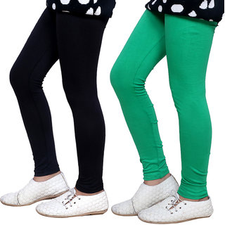 Indiweaves Girls Super Soft Cotton Leggings Combo 2-(7140571406-IW)