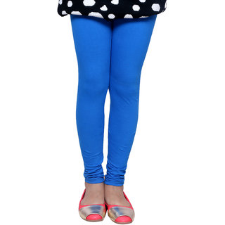 IndiWeaves Girls Super Soft Cotton Blue Leggings