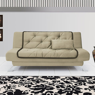 Fabhomedecor Ellabera Wooden Frame Sofa Cum Bed With