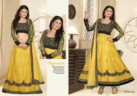 Semi stiched Anarkali cum lehnga 2 in1 pattern