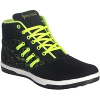 George Adam Mens Black  Green Lace-up Smart Casuals Shoes