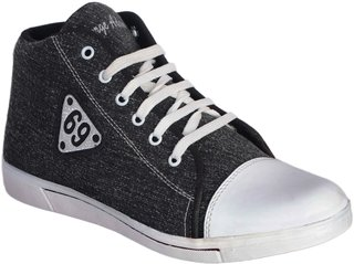 George Adam MenS Grey With White Lace Long Length Casual Shoe ( sk048 69 casual gray boots)