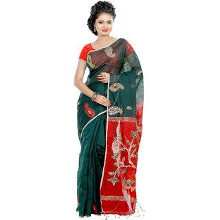 B3Fashion Designer Bengal Tant Handloom super soft Silk Saree  AGS415
