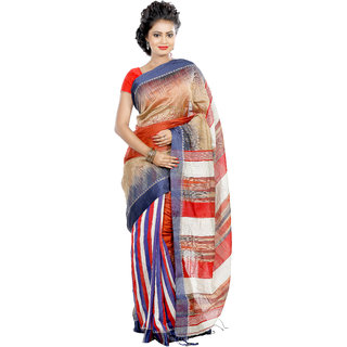 B3Fashion  Elegant  Bengal Handloom soft   comfortable  ikkat silk Partywear Saree  AGS420