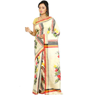 B3Fashion Handloom Bishnupur Pure Tussar Silk saree  AGS452