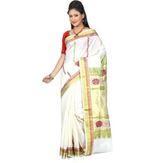 B3Fashion Traditional Kerala Pure cotton Kasavu handloom saree  AGS460
