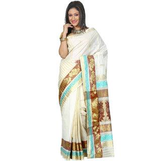 B3Fashion Traditional Kerala Pure cotton Kasavu handloom saree  AGS478
