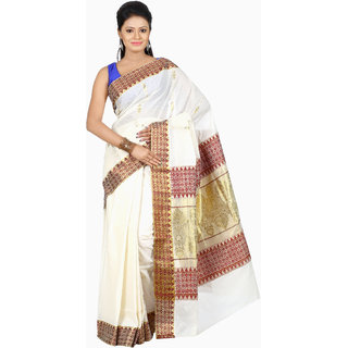 B3Fashion Traditional Kerala Pure cotton Kasavu handloom saree  AGS494