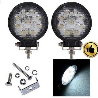 9 LEDx3w (Set of 2) 27W FOG LIGHT OFFROAD FOG DRIVING LAMP  For all Bikes , Cars