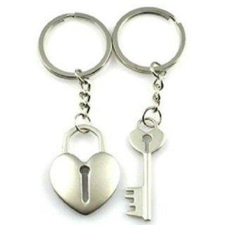 Key Lock Metal Keychain- Set of 2